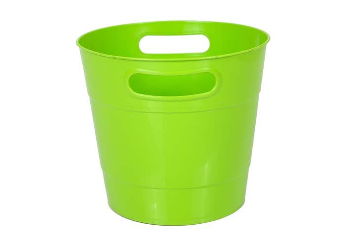 Round Shape Plastic Ice Bucket Lime
