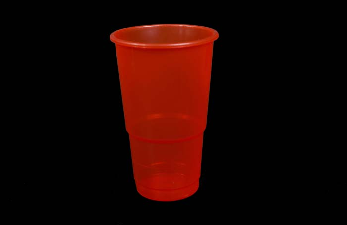 350ml Plastic Cups Red
